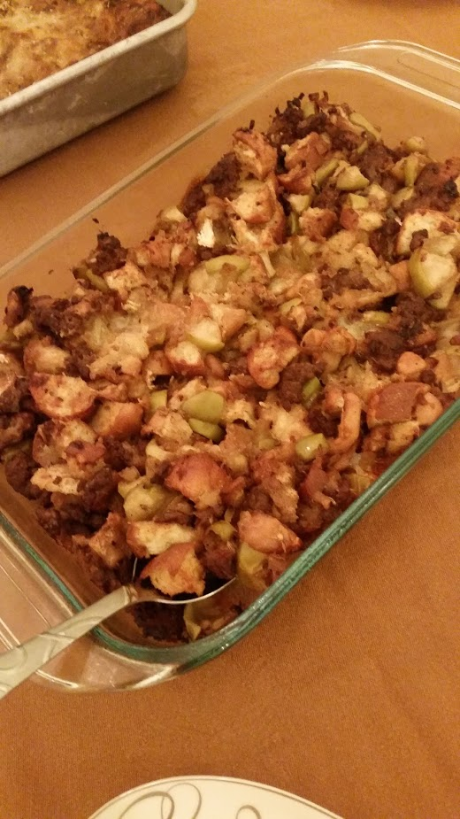 Sausage Apple Brie Stuffing