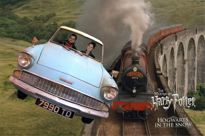 hogwarts in the snow green screen