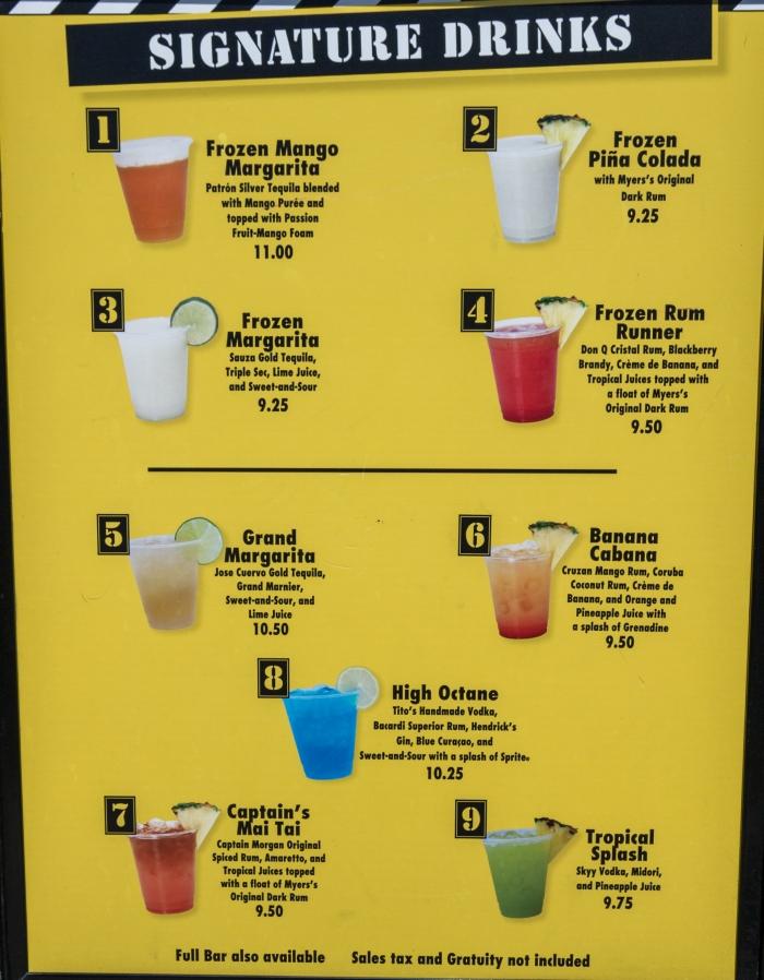 high octane menu