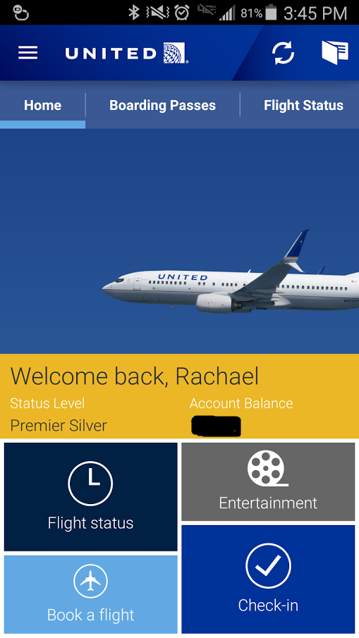 united app home page